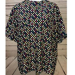 Talbots Plus Size 16 Short Sleeve Blouse Shirt